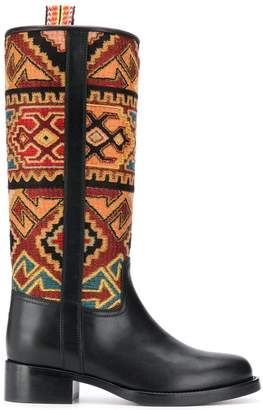 Etro geometric pattern ankle boots