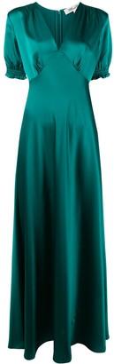 Diane von Furstenberg V-neck ruched cuff dress