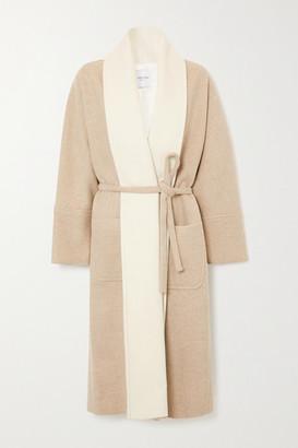 LE 17 SEPTEMBRE Belted Wool-blend Coat - Beige