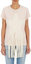 Stella McCartney Women's Fringed Star Cotton T-Shirt-PINK