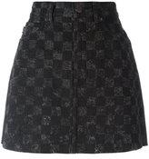 Marc Jacobs checked denim skirt - women - Cotton - 24