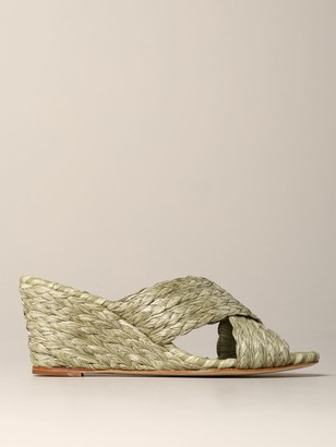 Paloma Barceló Paloma Barcelograve; Wedge Sandal In Raffia