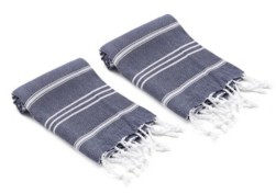 Olive and Linen Bodrum Turkish Hand/Kitchen Towel Set of 2 Bedding