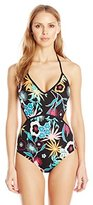 Coco Rave Women's Whimsy Flower Chloe Monokini One Piece Swimsuit
