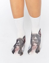 Monki Dog Ankle Socks