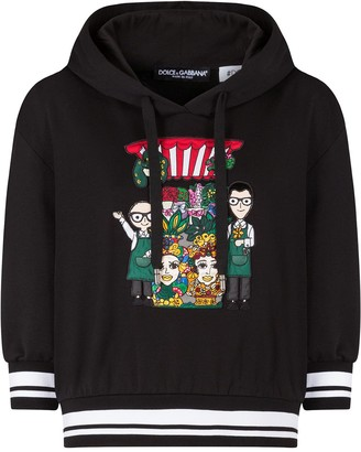 Dolce & Gabbana Embroidered Character Hoodie