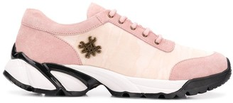 Mr & Mrs Italy Pink Lace Up Sneakers