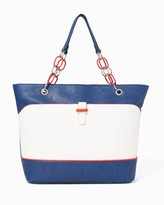 Charming charlie Chain Link Colorblock Tote