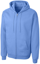 Clique Light Blue Fleece Zip-Up Hoodie