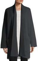 Eileen Fisher Recycled Cashmere-Blend Double-Knit Coat