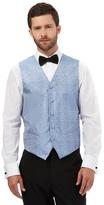 Black Tie Big And Tall Light Blue Jacquard Waistcoat