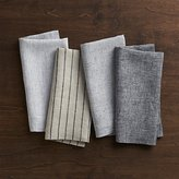 Crate & Barrel Suits Linen Cloth Dinner Napkins, Set of 4