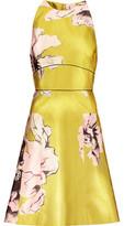 Lela Rose Floral-Print Satin-Twill Dress