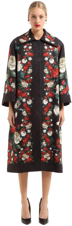 Dolce & Gabbana Brocade Roses Coat