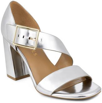 Aerosoles Women's Sandals SILVER - Silver Metallic Buckle Lenox Leather Sandal - Women