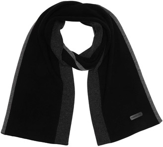 Bruno Magli Wool Blend Colorblock Ribbed Knit Scarf