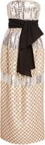 Carolina Herrera Metallic Sequined Silk-Jacquard Midi Dress