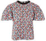 Topshop Poppy print poplin t-shirt