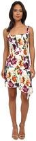 Nicole Miller Leafly Drape Silk Rosa Dress