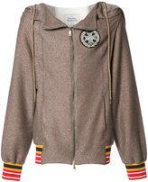 Vivienne Westwood Man - striped detail zipped hoody - men - Viscose/Cotton/Polyester/Modal - M