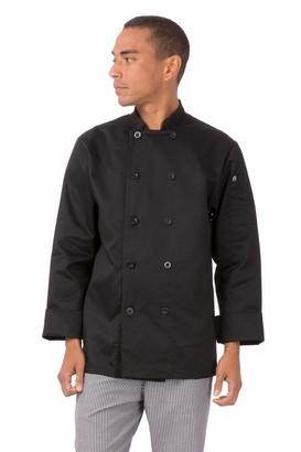 Chef Works Men's Bastille Chef Coat (Bast) Black