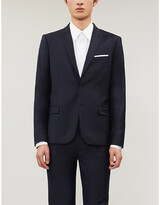 The Kooples Single-breasted fitted wool blazer