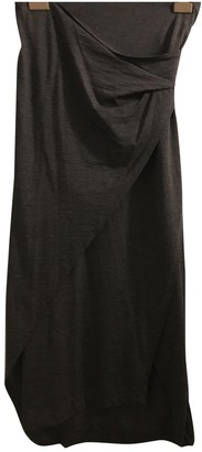 Brunello Cucinelli Anthracite Wool Skirt for Women