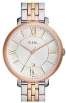 Fossil Women's 'Jacqueline' Round Bracelet Watch, 36Mm