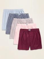 Old Navy Soft-Washed Poplin Boxers 5-Pack for Men