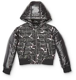 Giorgio Armani Girls' Giraffe Print Zip-Up Jacket - Little Kid Big Kid