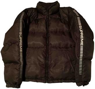 Supreme Black Polyester Coats