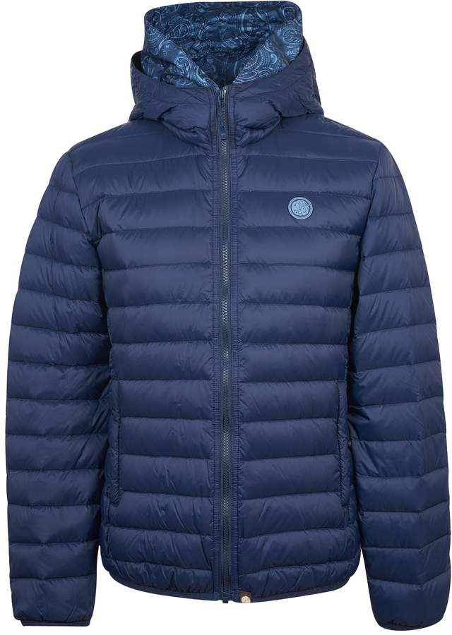 Pretty Green Men's Lightweight Quilted Hooded Jacket