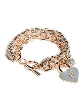 GUESS Rose Gold-Tone Charm Toggle Bracelet
