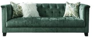 House of Hampton Acanva Vintage Tufted Velvet Sofa House of Hampton