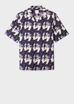Paul Smith Men's Tailored-Fit 'Homer' Print Short-Sleeve Shirt