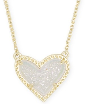 "Kendra Scott Stone Heart Pendant Necklace, 15"" + 2"" extender"