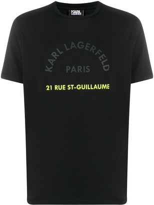 Karl Lagerfeld Paris Address print T-shirt