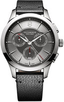 Victorinox Men's Swiss Chronograph Alliance Black Leather Strap Watch 44mm 241748