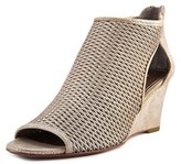 Donald J Pliner Jace Open Toe Leather Wedge Sandal.