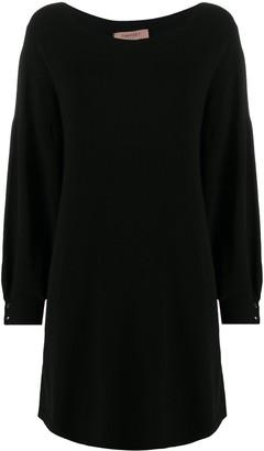 Twin-Set Long-Sleeve Mini Dress