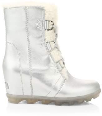Sorel Disney's Frozen 2 x Joan Of Arctic Wedge II Faux Fur & Shearling-Lined Metallic Leather Boots