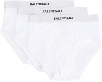 Balenciaga 3-Set Logo-Waistband Briefs