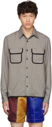 Daniel W. Fletcher Black and White Houndstooth Shirt