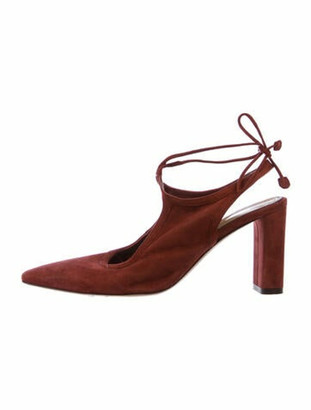 The Row Suede Pumps Red