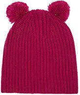 Baby CZ Pom-Pom Chunky Cashmere Hat-PINK