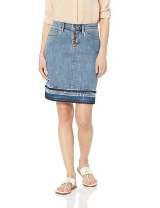Karl Lagerfeld Paris Women's Denim Skirt with Released Hem