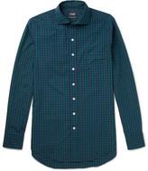 Drakes Drake's - Checked Cotton-Poplin Shirt