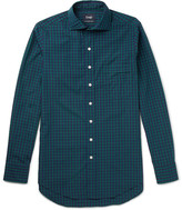 Drake's - Slim-fit Checked Cotton-poplin Shirt