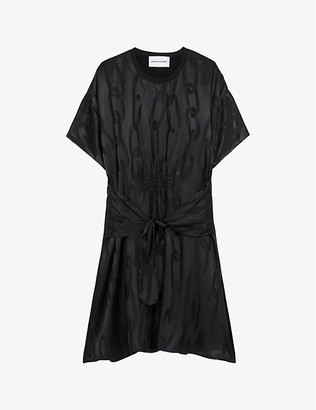 The Kooples Sport Chain link-jacquard crepe dress