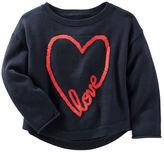 Osh Kosh Drop-Shoulder Love Sweater
